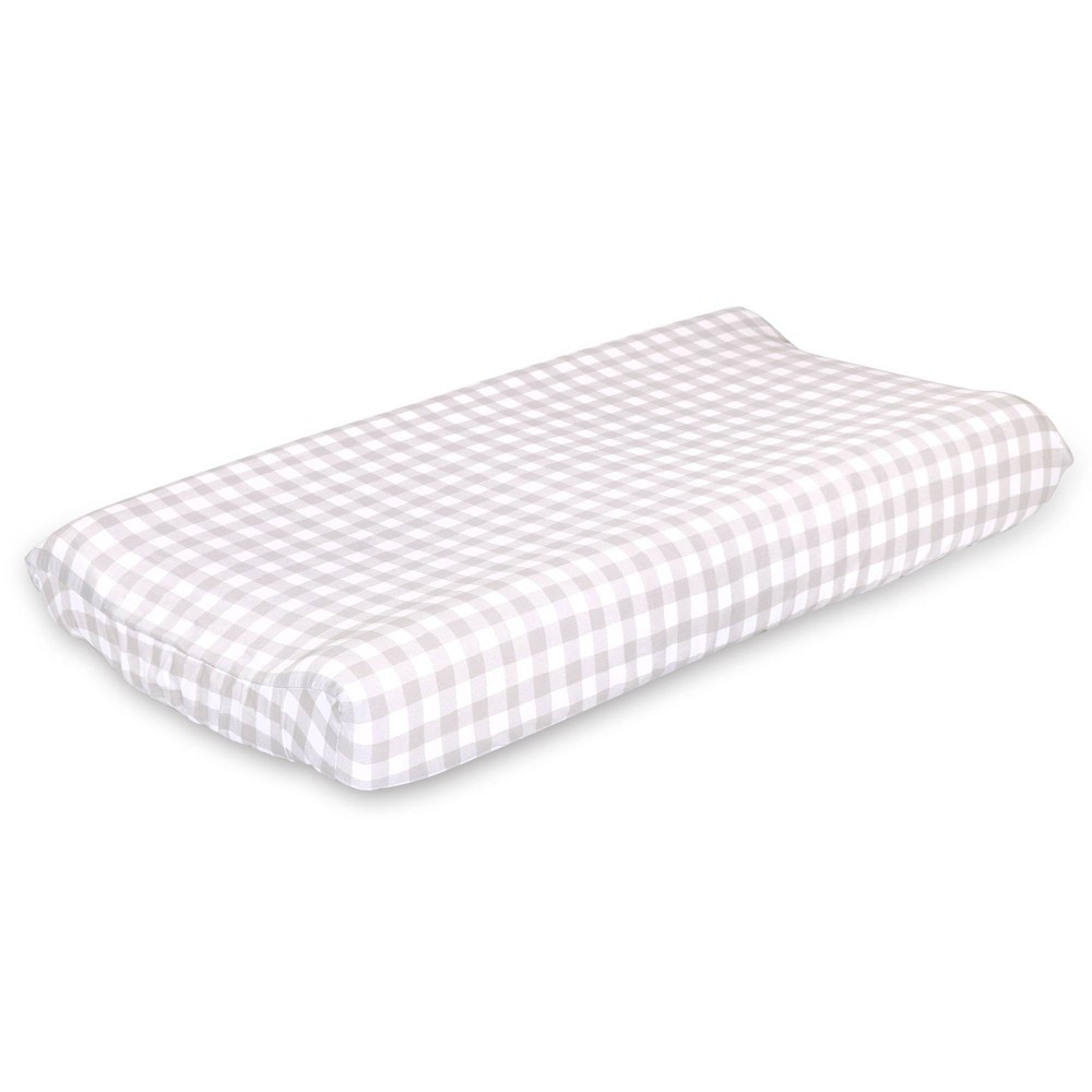 Image of Farmhouse Check Changing Pad Cover By The Peanutshell - Gray