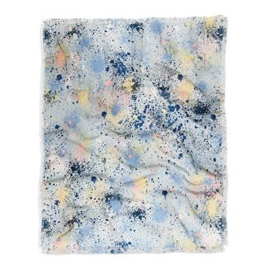 Ninola Design Ink Dust Soft Blue Woven Throw Blanket Blue - Deny Designs