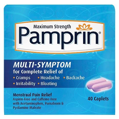 Pamprin Multi-Symptom Menstrual Pain Relief Tablets - Acetaminophen - 40ct - image 1 of 3