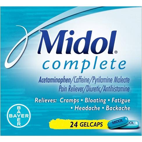 Midol Complete Maximum Strength Multi-Symptom Relief Gelcaps - Acetaminophen - 24ct - image 1 of 4