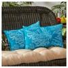 Set of 2 Sea Coral Outdoor Rectangle Throw Pillows - Kensington Garden - image 2 of 3
