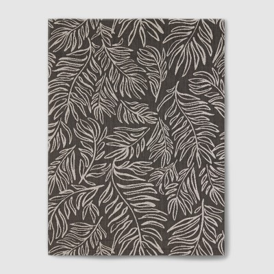 7' x 10' Leaves Outdoor Rug Black - Project 62™