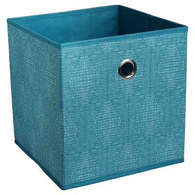 Fabric Cube Storage Bin Teal 11  - Room Essentials™