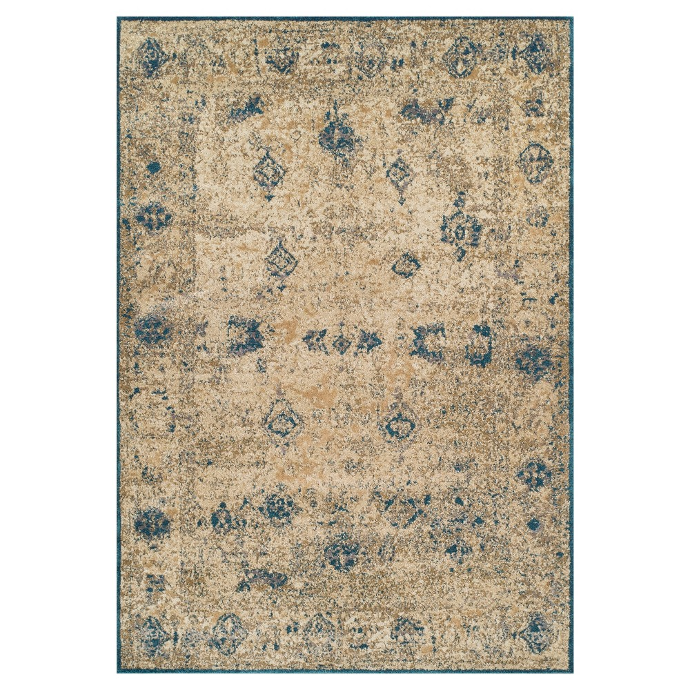 Teal (Blue) Damask Woven Accent Rug 3'3X5'