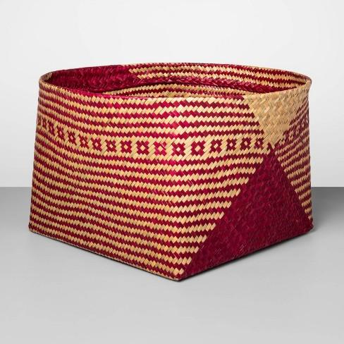 "Decorative Palm Leaf Basket Pink 10.83""x17.7"" - Opalhouse™ - image 1 of 1"