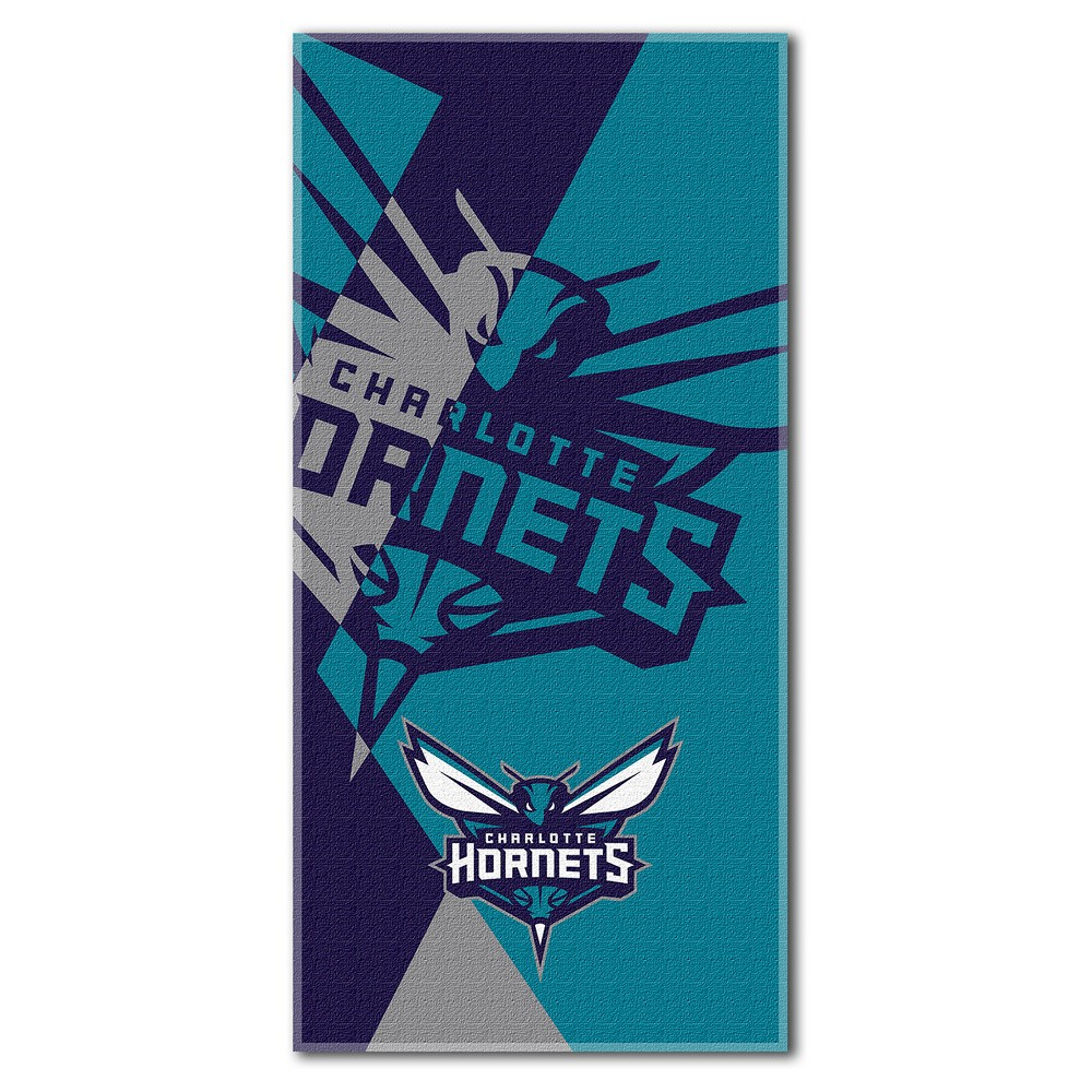 Charlotte Hornets Northwest Puzzle Beach Towel