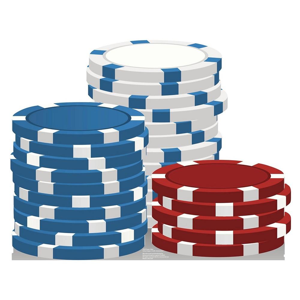 Vegas Gaming Chips Standup, Multi-Colored