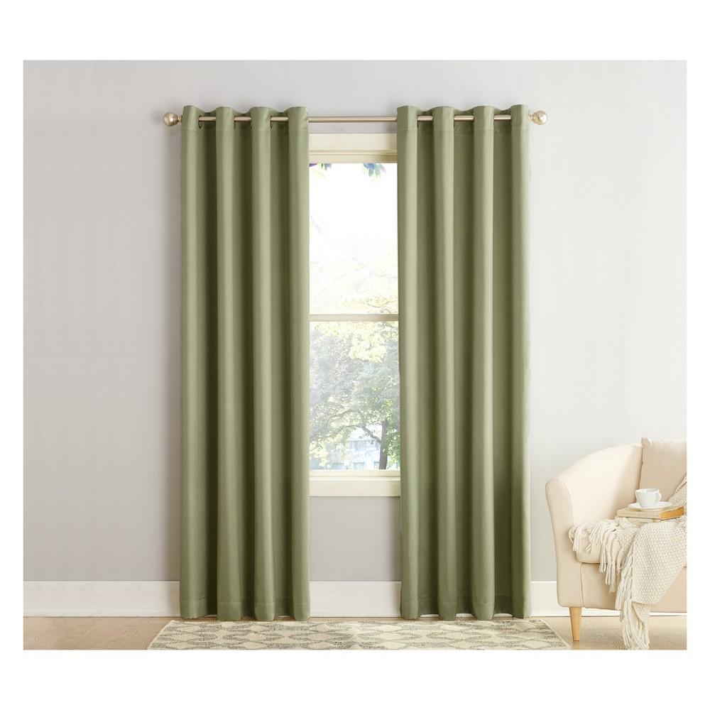 95 34 X54 34 Seymour Energy Efficient Grommet Room Darkening Curtain Panel Green Sun Zero