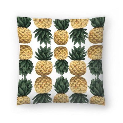 Americanflat Painted Pineapple Pattern by Jetty Printables Throw Pillow