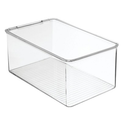 "mDesign Plastic Stackable Toy Storage Bin Box with Lid, 5"" High"