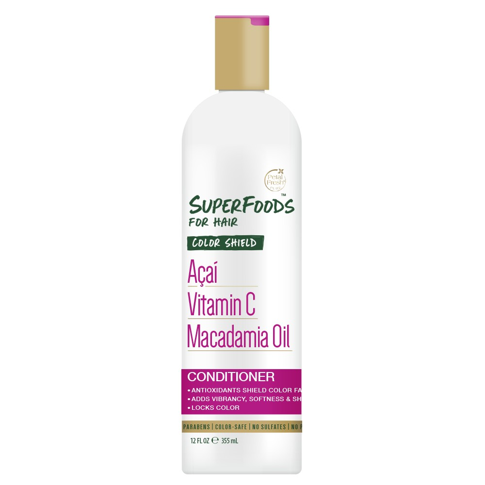 Image of Petal Fresh Pure SuperFoods for Hair Color Shield Acai, Vitamin C & Macadamia Oil Conditioner - 12oz
