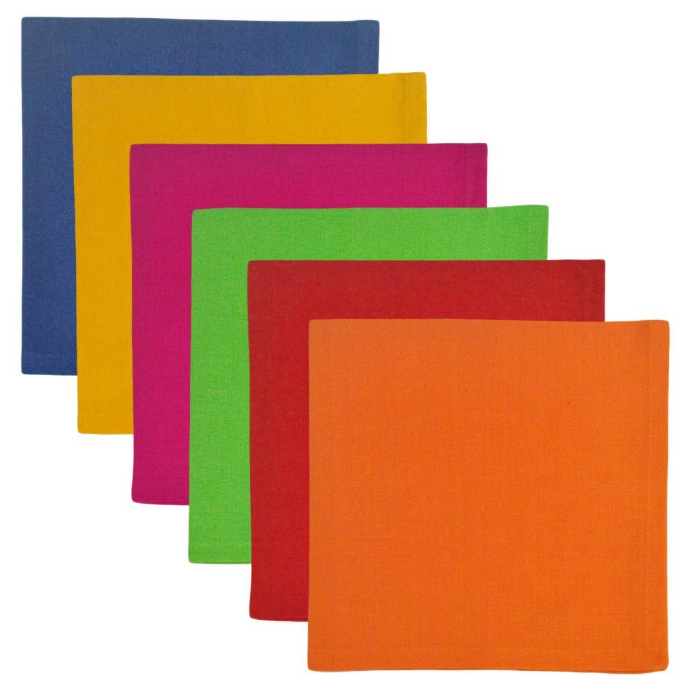 Red Napkins (Set Of 6) - Design Imports