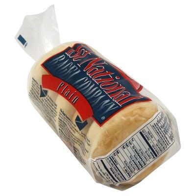 1st National Plain Bagels - 5ct