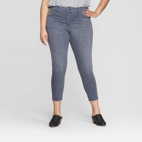 Size Mid Cropped Universal Thread Women's Plus Jeans Rise Skinny jRL34Aqc5
