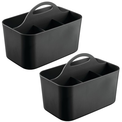 mDesign Plastic Office Storage Organizer Caddy Tote, Small, 2 Pack