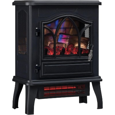 Duraflame 3D Black Infrared Electric Fireplace Stove - DFI-470-04.