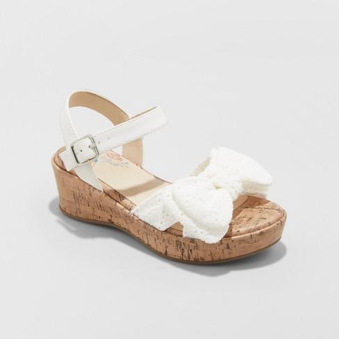 Jack™ Catamp; Sandals White Angelene Wedge Girls' rQChtsd