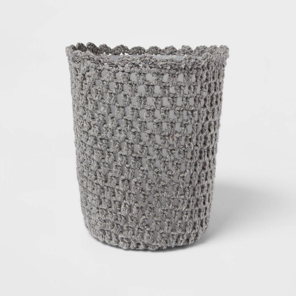 Solid Bathroom Wastebasket Gray Opalhouse 8482