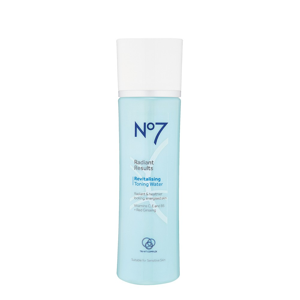 EAN 5000167255188 product image for No7 Radiant Results Revitalising Toning Water - 6.7oz | upcitemdb.com