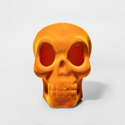 Large Skull Orange Halloween Decorative Sculpture - Hyde & EEK! Boutique™