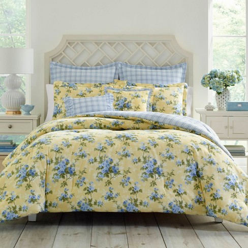 Yellow Cassidy Comforter Set - Laura Ashley - image 1 of 3
