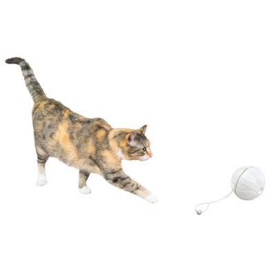 Premier Pet Automatic Ball of Yarn Cat Toy - White