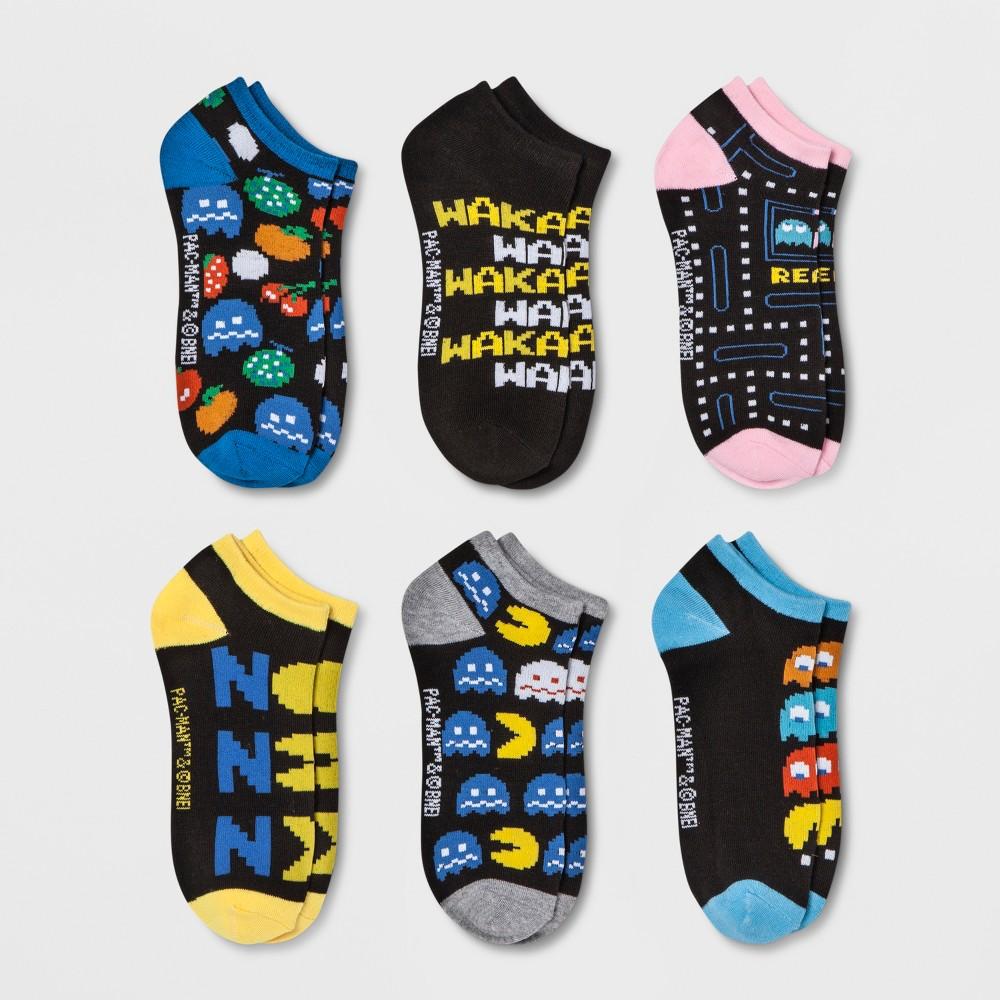 Women's Pac-Man 6pk Low Cut Socks - 4-10, Black