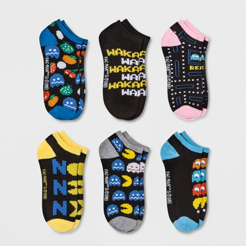 Women's Pac-Man 6pk Low Cut Socks - 4-10 - image 1 of 2