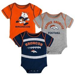NFL Denver Broncos Baby Boys' Newest Fan 3pk Bodysuit Set