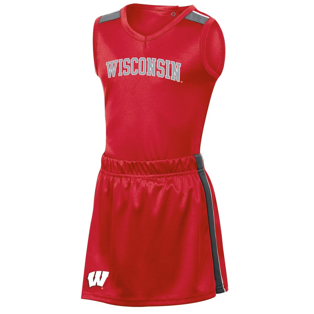 Wisconsin Badgers Girls' 3pc Cheer Set 3T, Multicolored