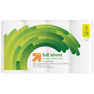 Full Sheet Paper Towels - 8 Giant Rolls- Up&Up™ (Compare to Bounty)
