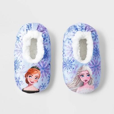 Toddler Girls' Frozen Slipper Socks - Blue