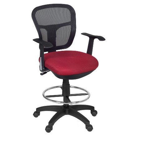 Harrison Swivel Stool Red  - Niche - image 1 of 3