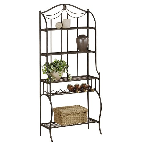 Camelot Metal Baker's Rack - Black Gold - Hillsdale Furniture - image 1 of 3