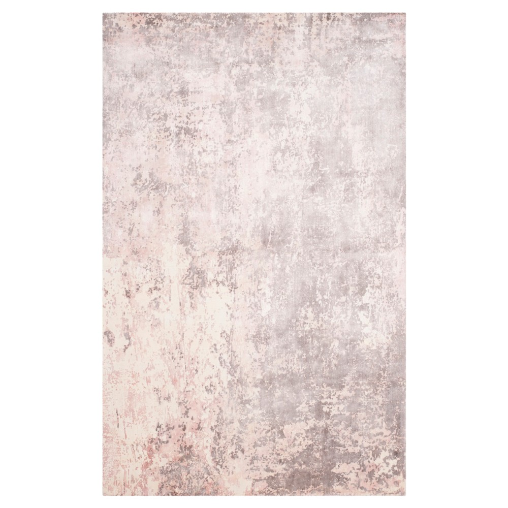 Pink Solid Knotted Area Rug - (6'X9') - Safavieh