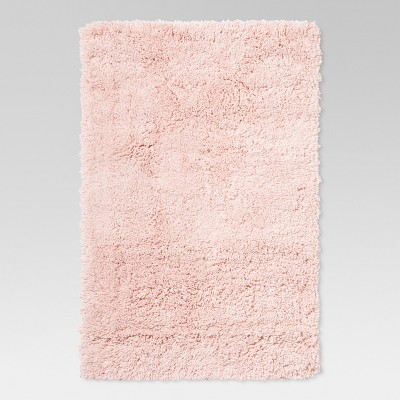 Pink Solid Tufted Washable Accent Rug 2'6 X4' - Room Essentials™