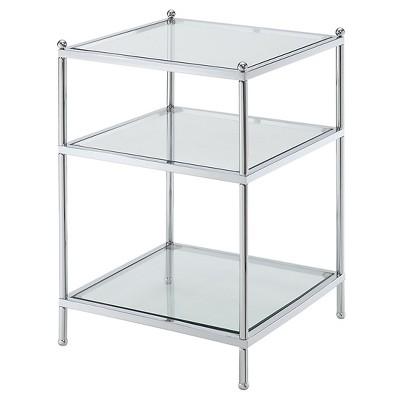 Royal Crest End Table Silver Medium Convenience Concepts