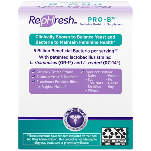RepHresh Pro-B Probiotic Feminine Supplement - 30 Capsules