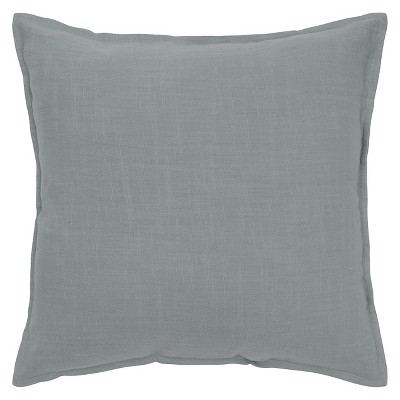 "20""x20"" Oversize Solid Square Throw Pillow Gray - Rizzy Home"