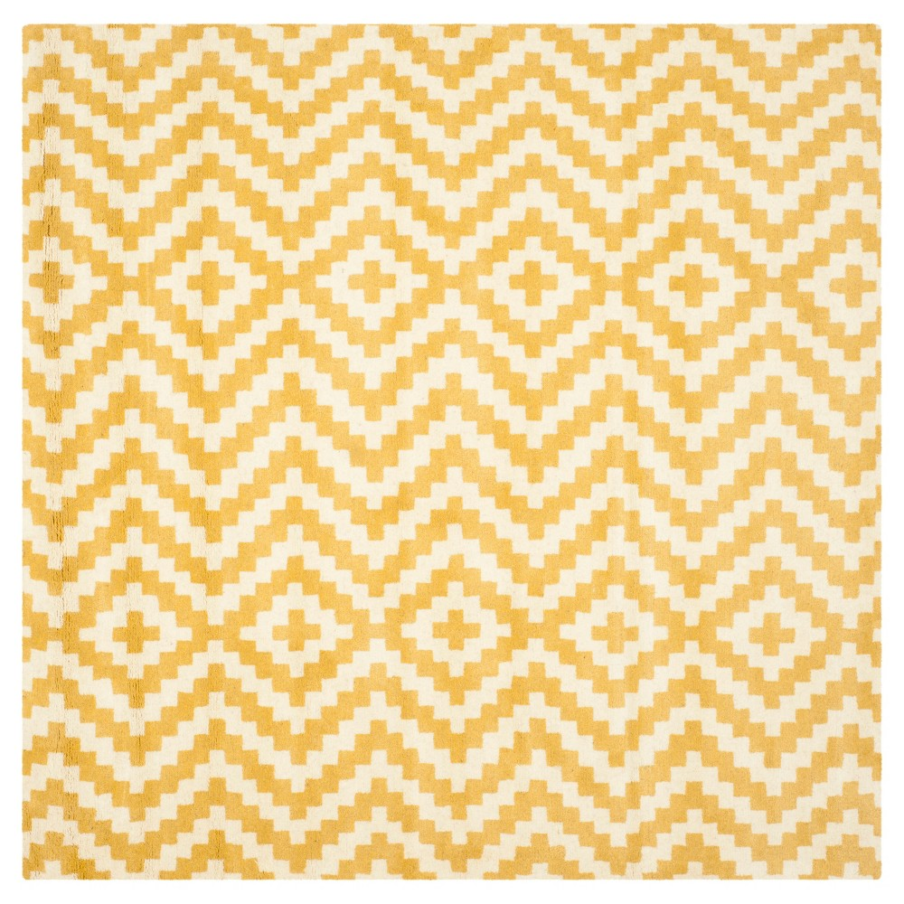 Safavieh Kennedy Area Rug - Ivory / Gold ( 6' X 6' ), Ivory/Gold