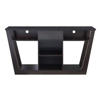 """Delak Open Shelf TV Stand for TV's Upto 66"""" Red Cocoa - miBasics"""