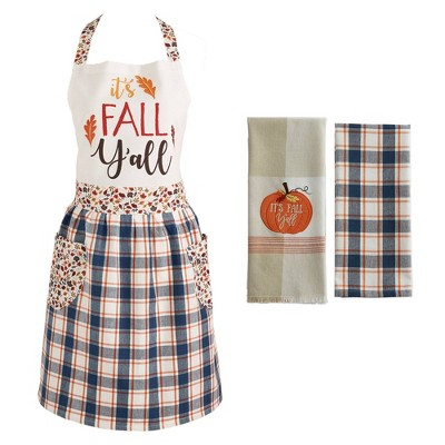 It's Fall Y'all Apron & Kitchen Towels Set - Design Imports