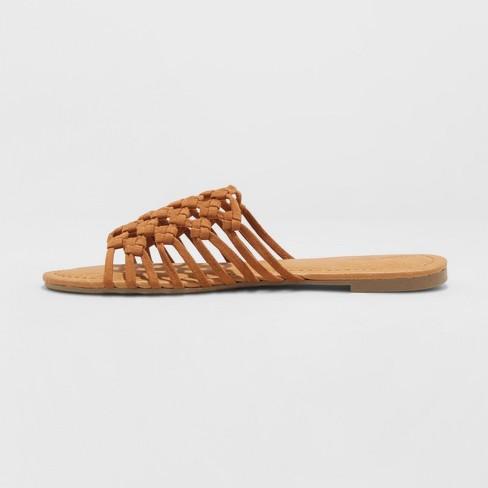 4ab27288bea Women's Daphne Microsuede Rope Slide Sandals - Universal Thread™ Cognac 5.5