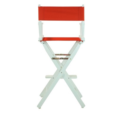 Red Bar Height Director's Chair-White