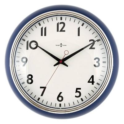 "14"" Schoolhouse Wall Clock Navy - Threshold™"