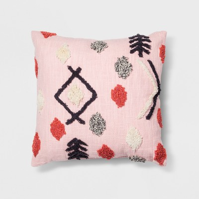 Pink Tufted Throw Pillow - Opalhouse™