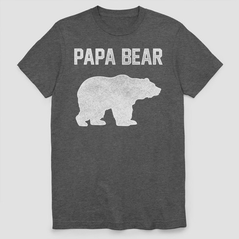 295c2771 Men's Papa Bear Short Sleeve Graphic T-Shirt - Charcoal Heather : Target
