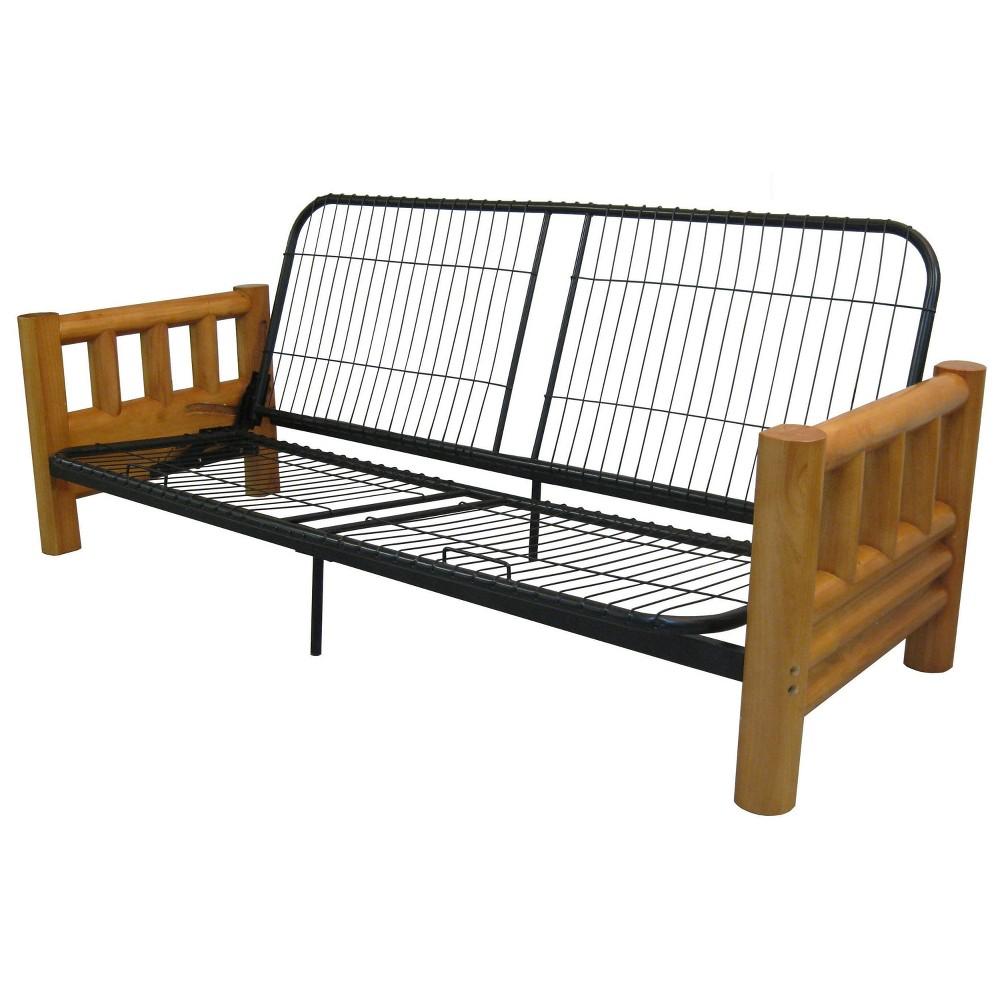 Lodge Futon Sofa Sleeper Bed Frame - New Oat - Queen Size - Sit N Sleep, Beige