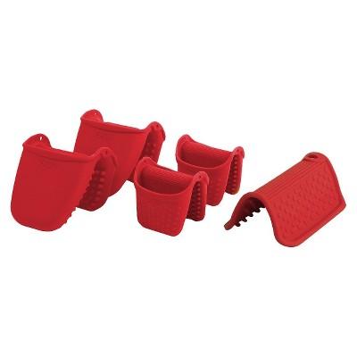 Dexas Hotware Set of Five- Red