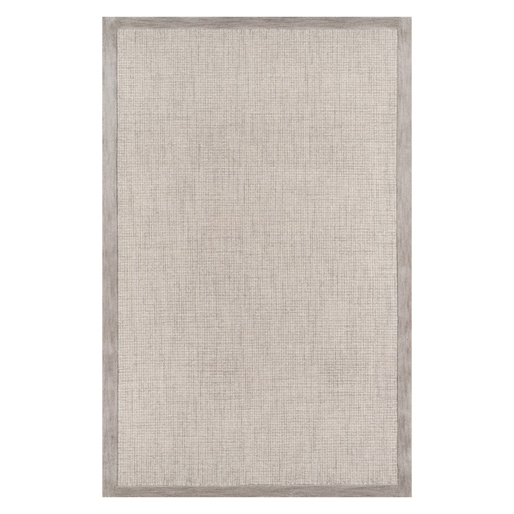 8'X10' Solid Tufted Area Rug Silver - Momeni